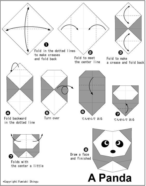 Como hacer un panda de Origami | Manualidades en Papel