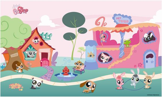 Great Wall Stickers : Littlest Pet Shop Wall Mural | Littlest Pet Shop  Accessories | Pinterest | Pet Shop Part 3