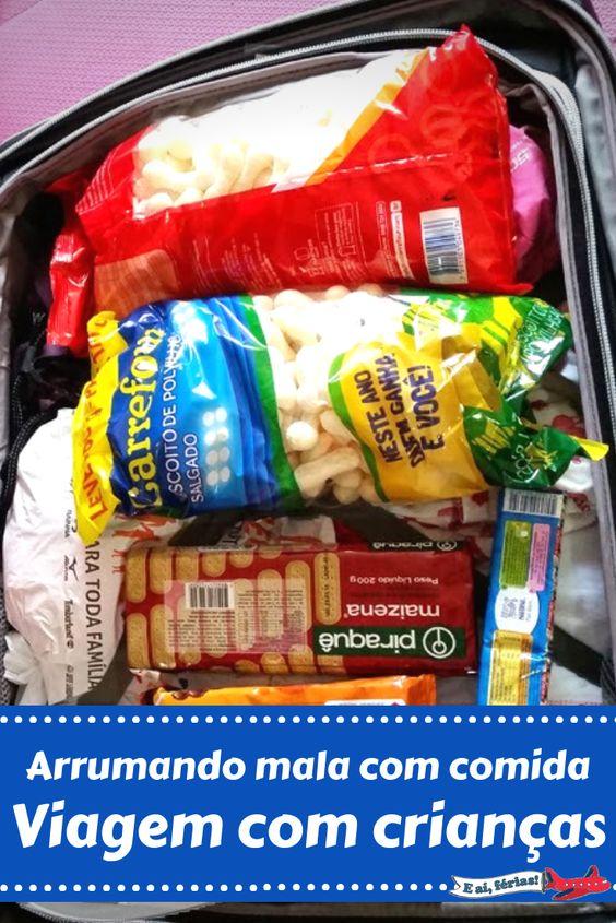 Viajando com crianças - Levando comida para os EUA