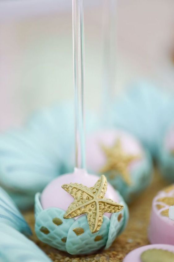 Cake Pop from a Mermaid Oasis Themed Birthday Party via Kara's Party Ideas | KarasPartyIdeas.com (11)