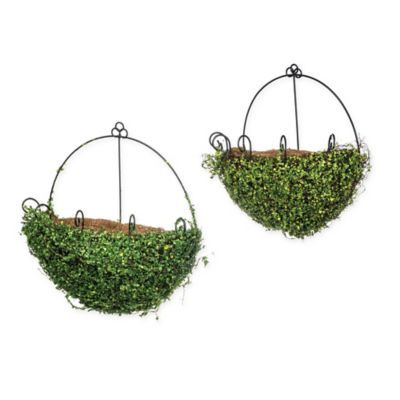 Artificial Greenery Wall Planter Baskets Set Of 2 Wall Planter