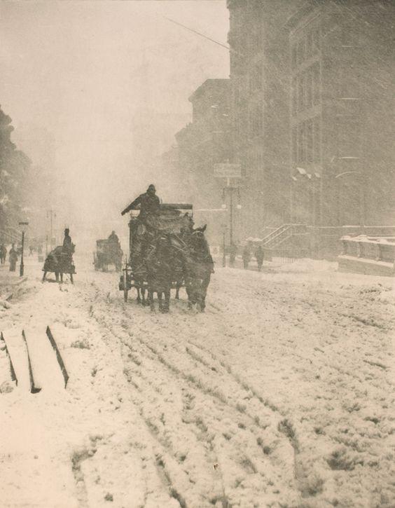 Alfred Stieglitz: Winter auf der Fifth Avenue, 1893