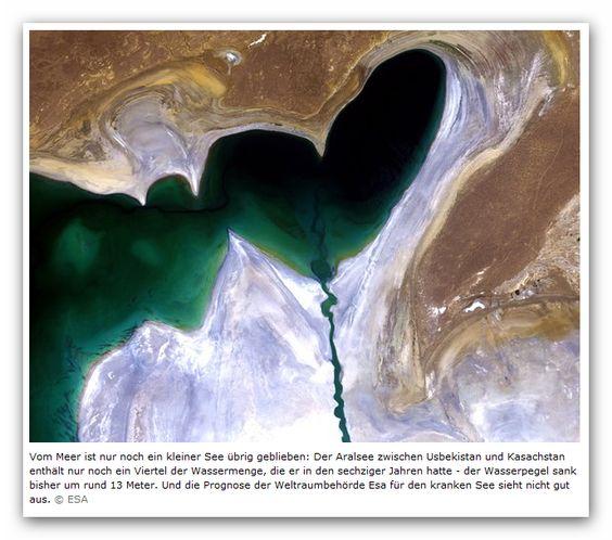 Der sehr kranke Aralsee zwischen Usbekistan und Kasachstan wird immer kleiner! Was ist die Ursache?