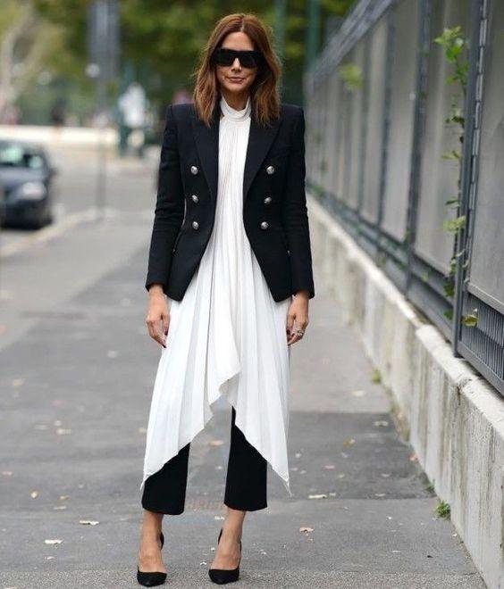 Dresses over pants via sheerluxe.com: