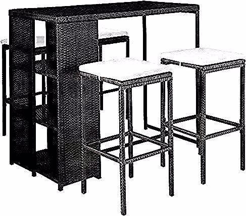 Vidaxl Jeu De Bar D Exterieur 9pcs Resine Tressee Meuble De Jardin Multicolore Home Decor Furniture Decor