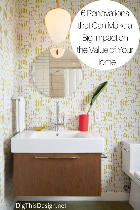 Inexpensive renovations - use wallpaper.