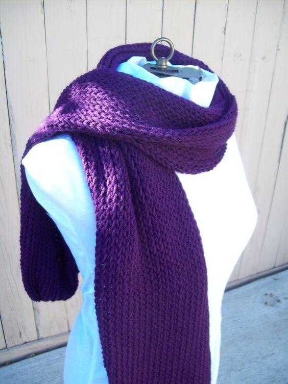 SALE on this Royal Purple Scarf by IdasBrooklynBarn on Etsy, $18.00
