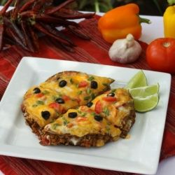 Skinny Mexican Pizza - A reduced fat, heartier, family favorite version of a Taco Bell dish with your own ingredients.