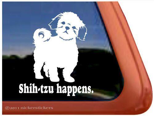 Shih Tzu Mom Windshield Sticker Vinyl Auto Window lion dog
