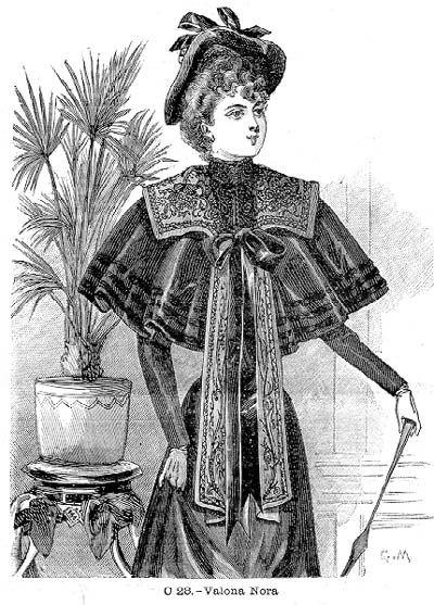 "The ""Nora"" capelet, El Salon de la Moda- 1893"