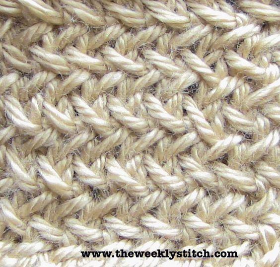 Knitting Ribbing Odd Number Stitches : The weekly stitch little herringbone all slipped
