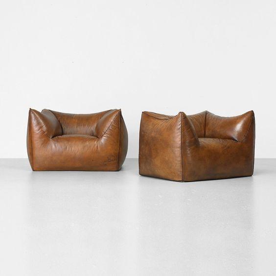 Mario Bellini Le Bambole chairs, pair