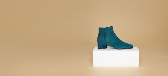 AEYDE Ankle Boots Naomi Petrol Suede Picture