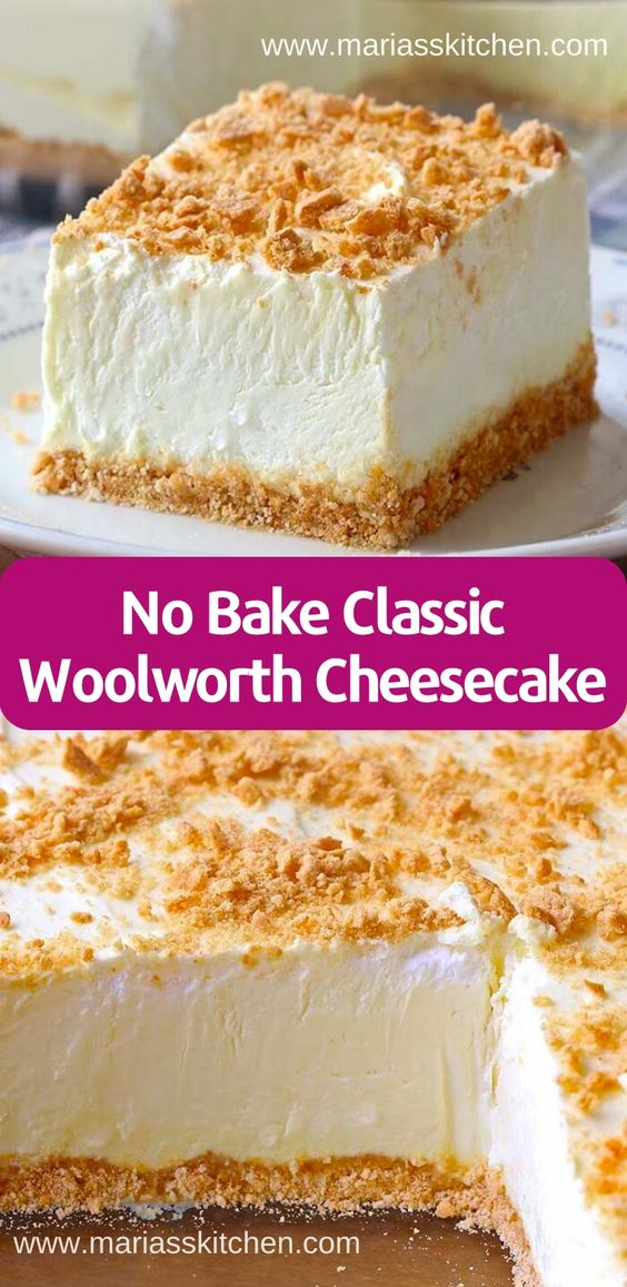No Bake Classic Woolworth Cheesecake Recipe