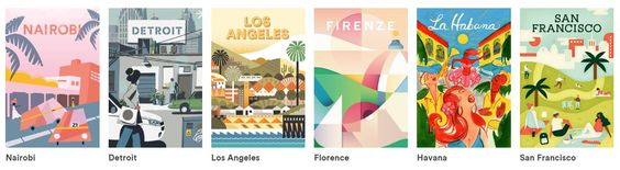 Airbnb destination illustration