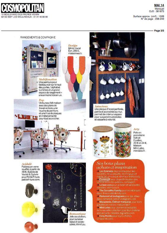 ComingB + Mini labo - cinqpoints  Cosmopolitan France Mai 2014