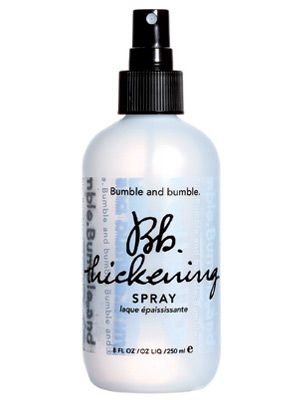 """Bumble and Bumble Thickening Spray """"It makes fine hair look like Texas hair,"""" says Rodger Azadganian, owner of Seven salon in Seattle. New York City hairstylist Oscar James, who has worked with Ashanti, spritzes it on damp hair for """"instant fullness."""""""