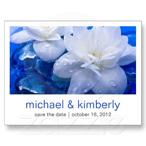 Floating Flowers | Save the Date Post Card