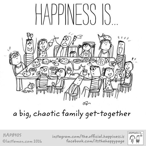 A chaotic family get-together :) I love each time we are all able to get together. <3