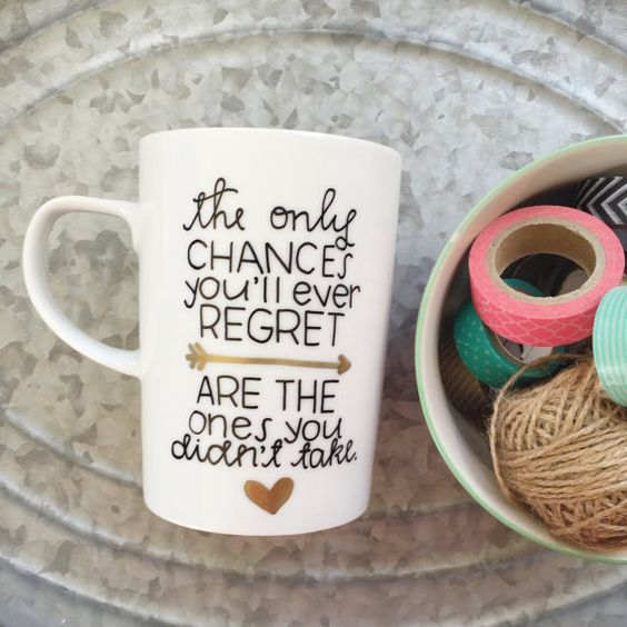 Chances and Regrets Mug | Plus Size Life