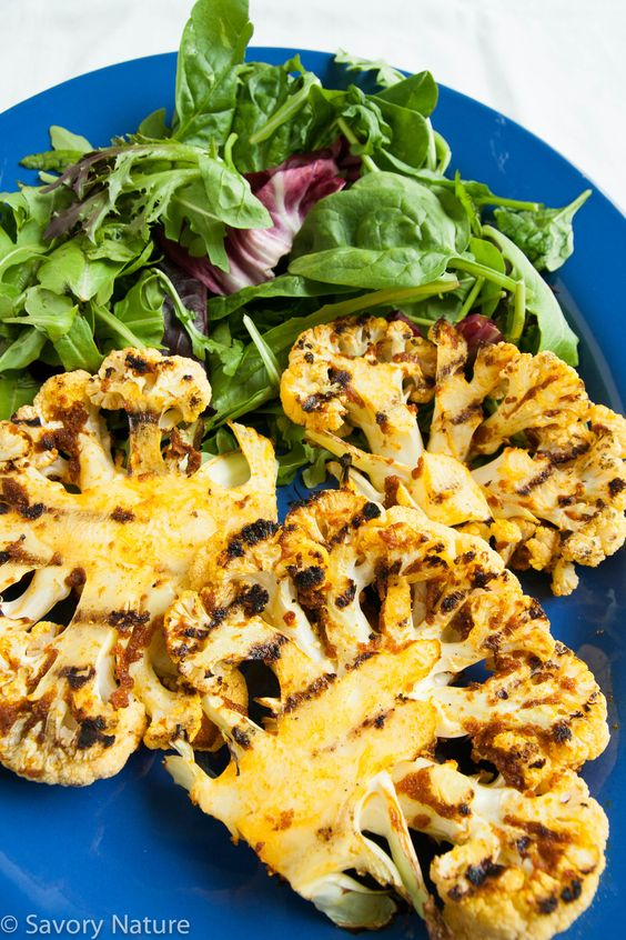 Grilled Cauliflower Steaks - These are so easy and so good! A great way to celebrate the beginning of grilling season!