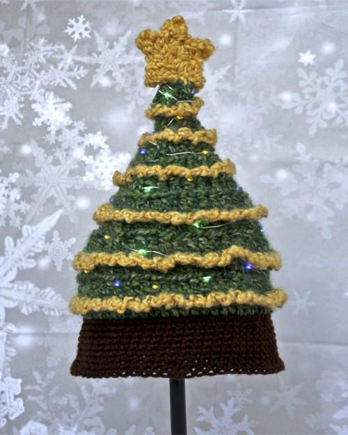 Light Me Up Christmas Tree Hat Christmas Tree Hat Crochet Christmas Hats Christmas Crochet Patterns