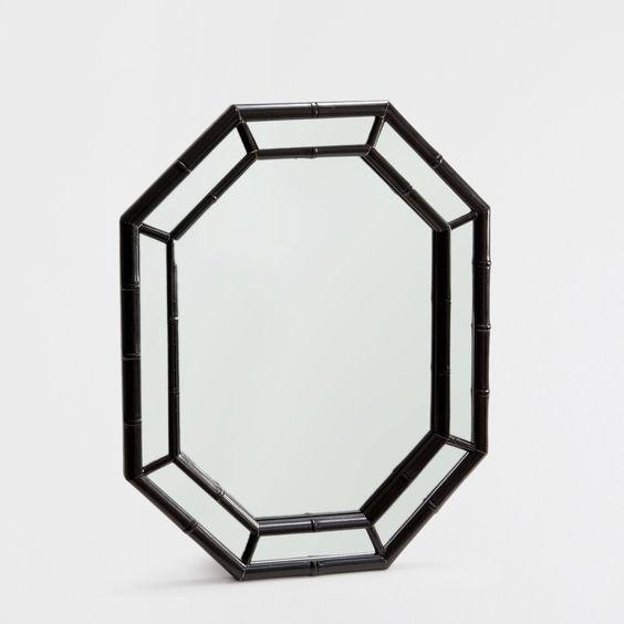 Espejo bamboo negro zara home casa y am rica for Decoracion copa efecto espejo