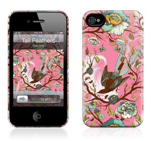 Tail Feathers by Tula Pink for the iPhone 4S, 4 HardCase
