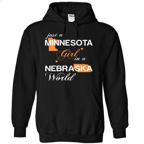 (MNJustCam002) Just A Minnesota Girl In A Nebraska Worl - #raglan tee #tee party. CHECK PRICE => https://www.sunfrog.com/Valentines/-28MNJustCam002-29-Just-A-Minnesota-Girl-In-A-Nebraska-World-Black-Hoodie.html?68278