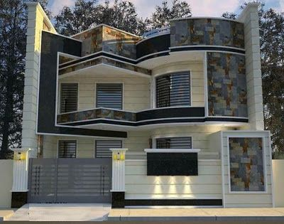 Modern House Front Design Ideas Exterior Wall Decoration Trends 2019 House Front Design House Architecture Styles House Designs Exterior