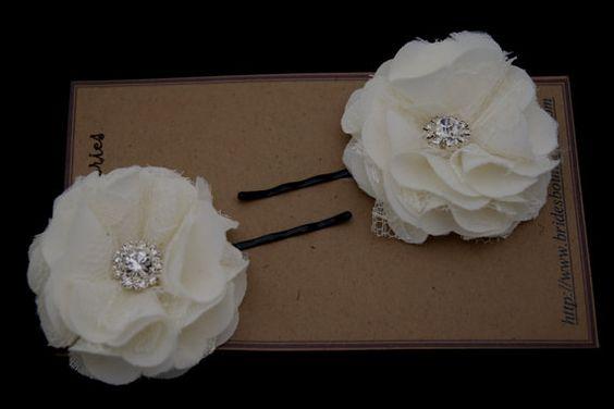 Elfenbein kleine Haarklammer Blume Bridal von BridesBoutik auf Etsy, $21.90