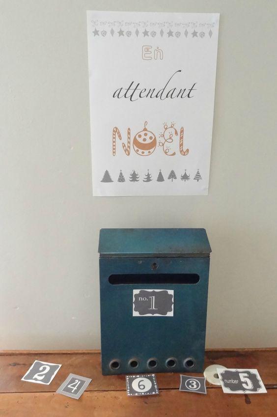 """Un calendrier de l'avent avec des """"bons pour..."""" ou chacun reçoit un petit bon dans la boîte aux lettres jusqu'à Noël"""