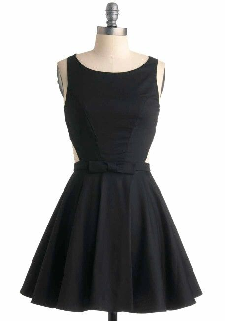 Cute black dress w/ a little bow | Cool clothes | Pinterest ...