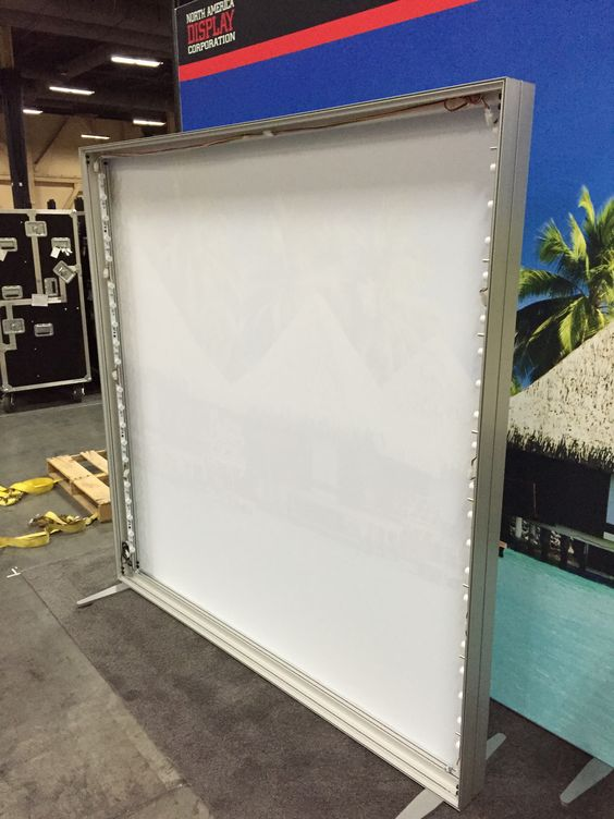 LED Tension Fabric Light Box #dyesublimation #exhibitsolution #lightbox #tradeshow #events