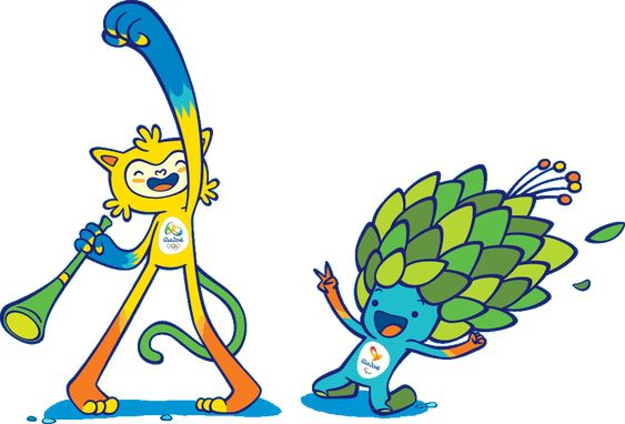 Vinicius (Mascote Olímpico) e Tom (Mascote Paralímpico) - Rio 2016