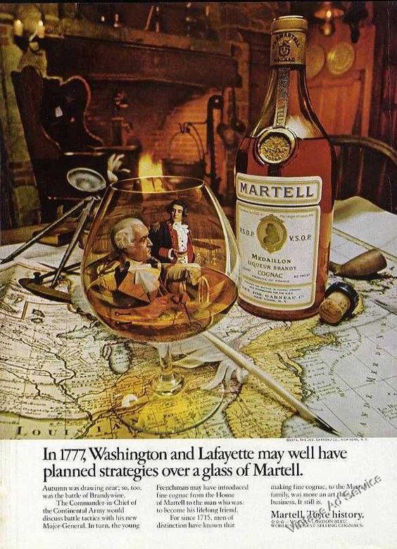 "1973 Martell Cognac ""Washington Lafayette Planned Strategies"" Ad"