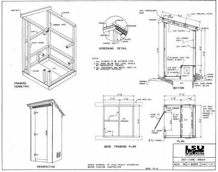 Outhouse Plans Pdf Outhouse Building An Outhouse How To Plan
