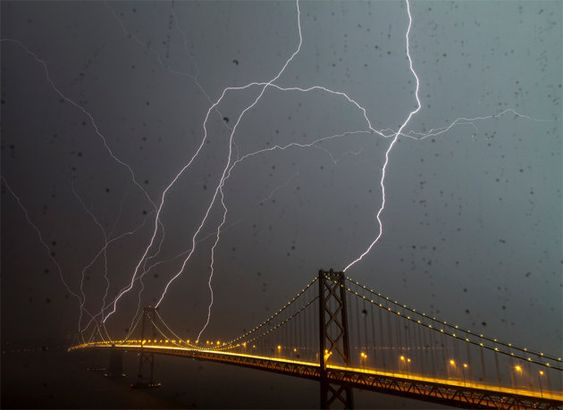 Bay Bridge Lightning Strike (Photo: Phil McGrew/Flickr)