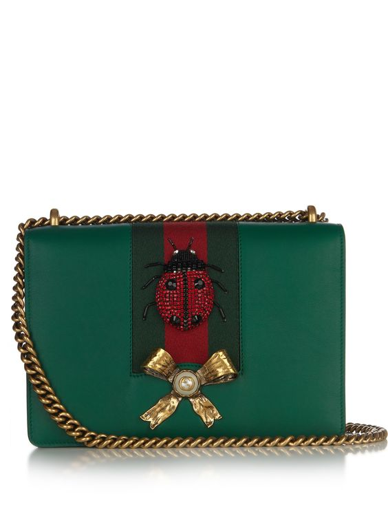 GUCCI Peony leather shoulder bag: