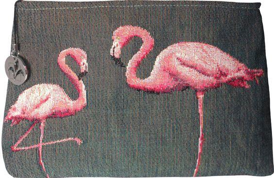 Trousse 20x25 Flamingo