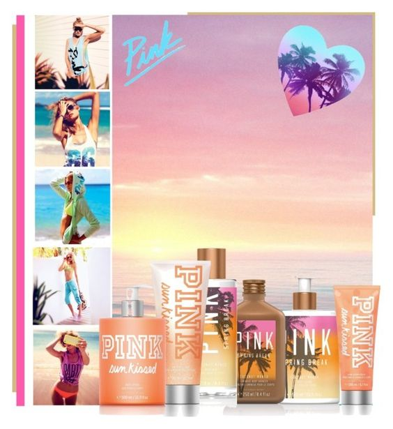 """""""VS Pink Spring Products"""" by casuality ❤ liked on Polyvore featuring Victoria's Secret PINK, Isharya and Victoria's Secret"""