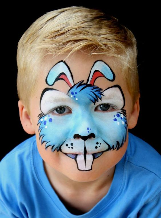 rabbit facepaint | Face Painting | Pinterest | Chicas, Niño y ...