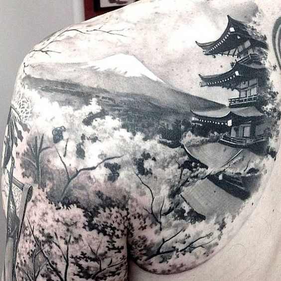 Japanese Landscape Tattoo