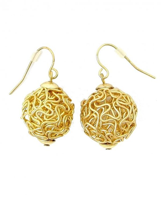 Gold Metal Wire Earrings - $8.00 : FashionCupcake, Designer Clothing, Accessories, and Gifts