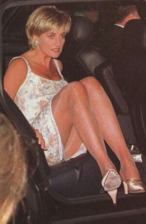 *m. June 23, 1997: Diana, Princess of Wales at Christies Auction In New York City for the sale of her 79 dresses.