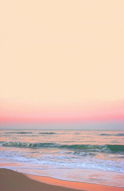 sunset | pink | ocean | water | color | waves |