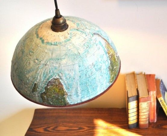 light made out of half of a globe - i MUST make one! by EdelSofie: