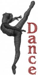 Machine Embroidery Designs Embroidery Design: Ballet Dance 2.95 inches H x 1.49 inches W