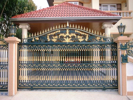 Boundary wall design Gate!! | Gate Samples | Pinterest | Exotic Homes ...