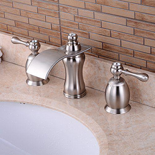 Wovier W 8414 Bn Widespread Bathroom Sink Faucet Brushed Nickel
